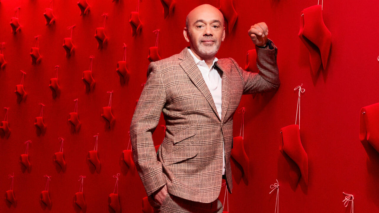 Christian Louboutin at the Exhibition[niste] exhibition in Paris.